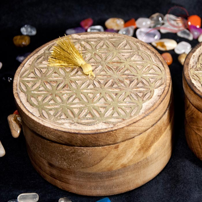 round flower of life box