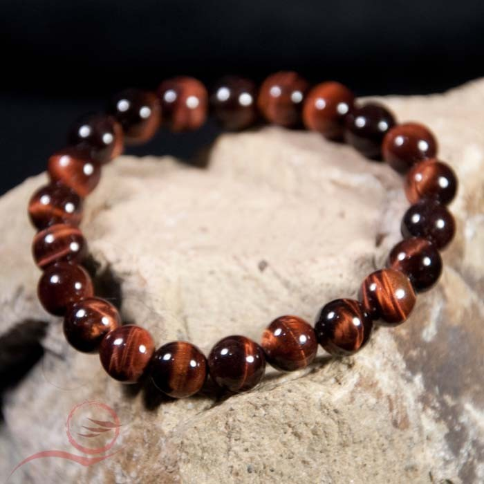tiger eye bracelet in frosted stones