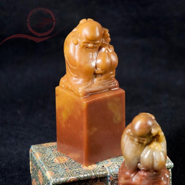 Pierre à sceau sculpté lao tseu