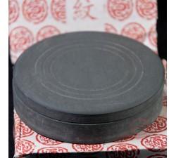 Pierre à encre ronde, pour la calligraphie chinoise