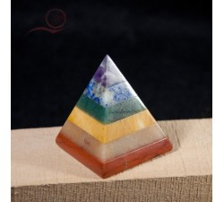 pyramid with 7 chakras