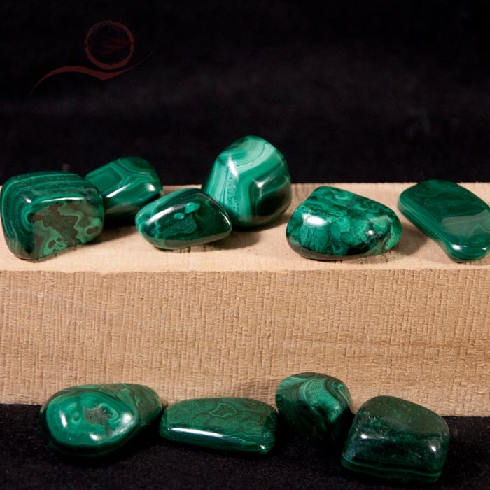 Malachite rolled stones