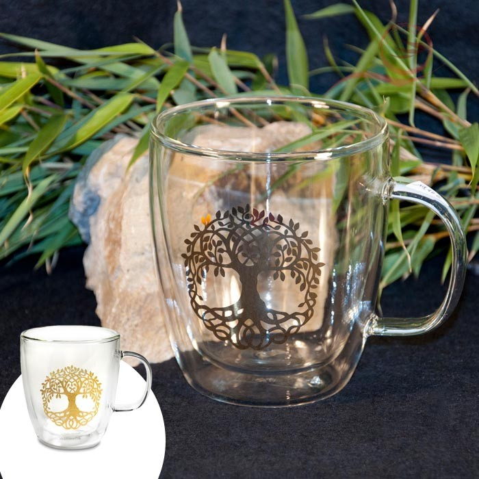 Tree of life tea glass