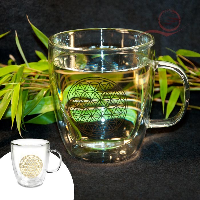Flower of life tea glass