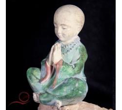 small Monk in meditation