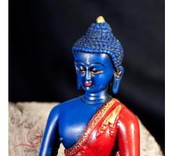 bouddha de la médecine peint a la main