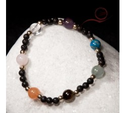 Beautiful bracelet with 7 chakras beads