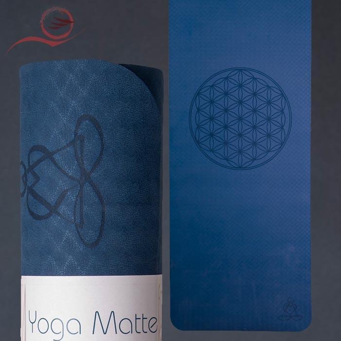 Tapis yoga TPE bleu