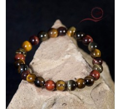 Tiger, bull and falcon eye bracelet