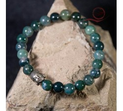 Bracelet en agate et bouddha