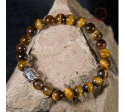 Tiger eye and buddha bracelet