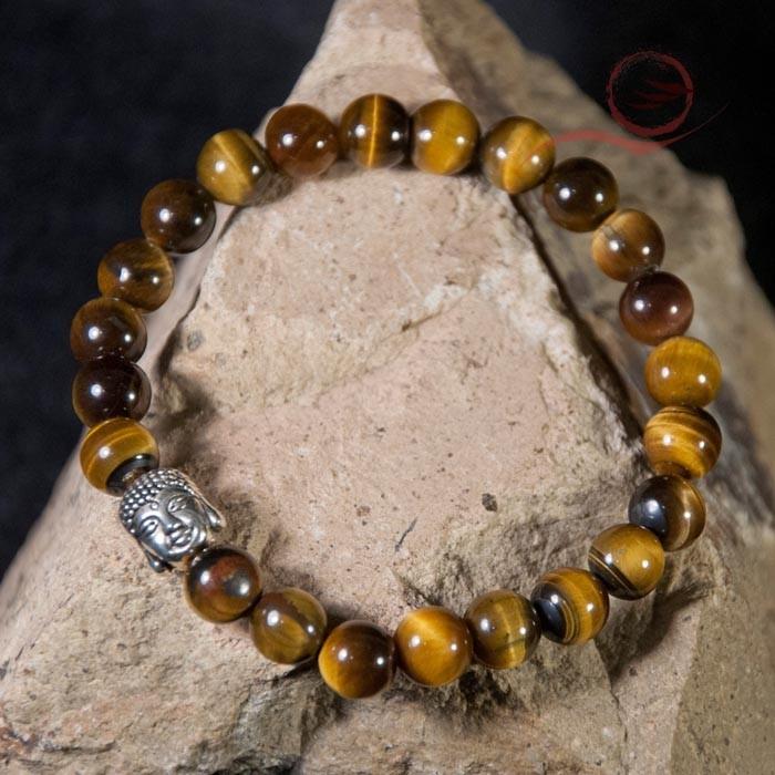 Tiger eye and buddha bracelet