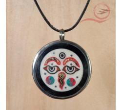 Buddha eyes pendant
