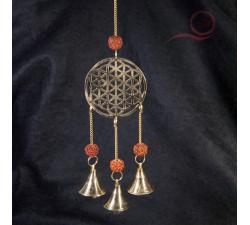 carillon fleur de vie et graine de rudraksha