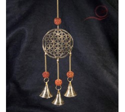 flower of life chime and rudraksha seeds