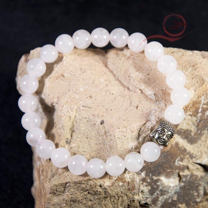 bracelet en quartz rose bouddha
