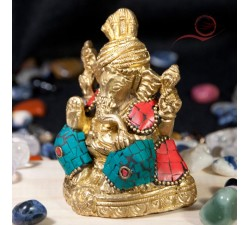 Gold and turquoise ganesh