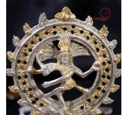 Statue Shiva argent et doré