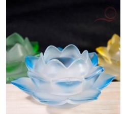 Bougeoir fleur de lotus en verre