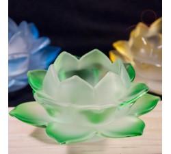 Bougeoir fleur de lotus en verre à Lyon