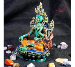 Painted green tara