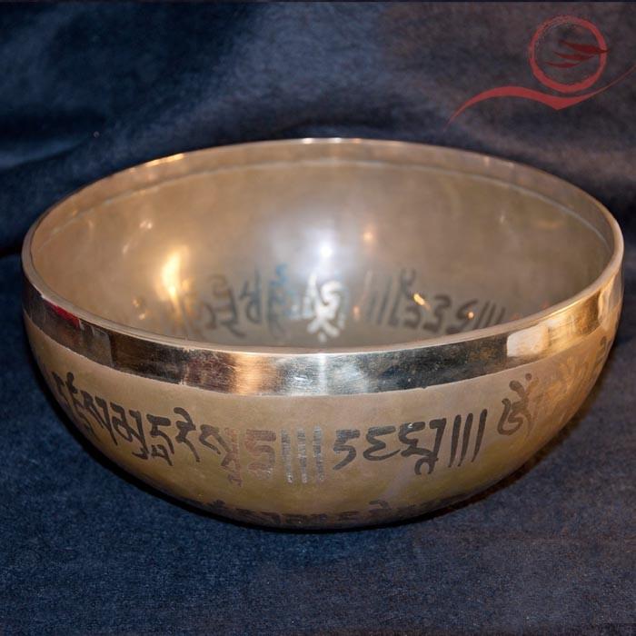 Bol tibétain gravé bouddha médecine