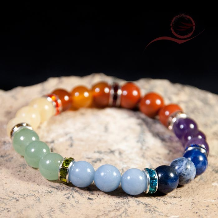 Bracelet, perles 7 chakras