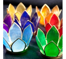 Lotus candle holders 7 chakras