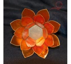 lotus candle holder orange