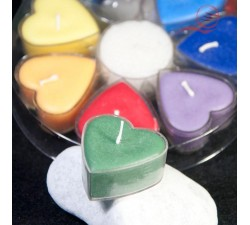 7 scented heart candles