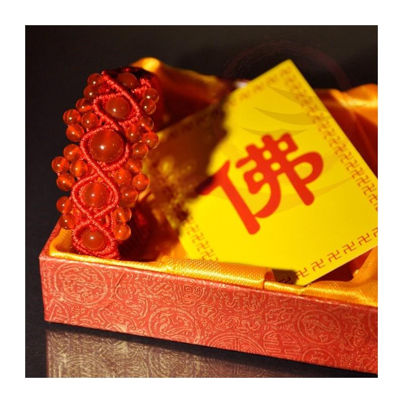 Bracelets, perles en agate, porte bonheur chinois
