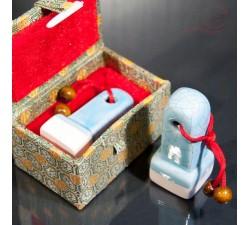 Pierre à sceau chinois, céramique 3x3cm