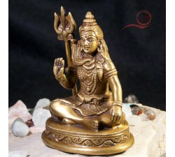 Little Shiva sitting on a tiger skin