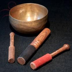 Baton bol tibétain, feutre noir