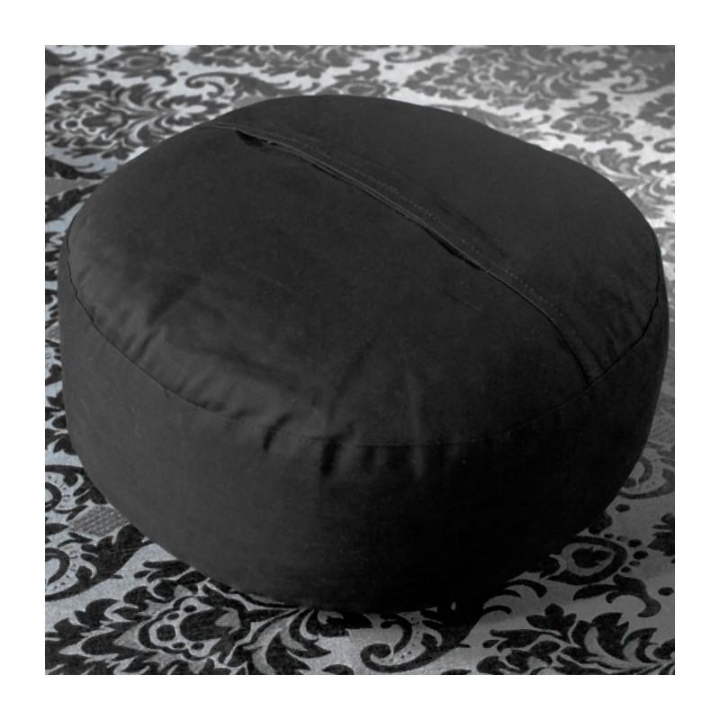 Coussin de méditation, noir bio